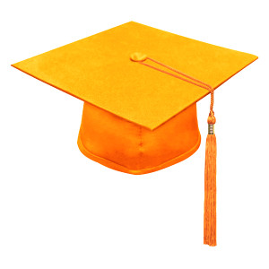 Orange One Way™ Cap & Tassel