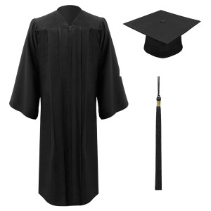 Black Executive™ Cap, Gown & Tassel