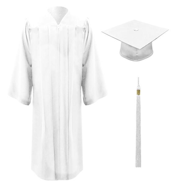 White Executive™ Cap, Gown & Tassel - Willsie Cap & Gown