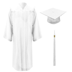 White Executive™ Cap, Gown & Tassel