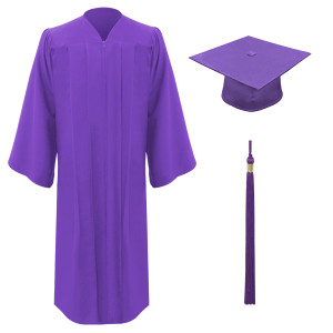Purple Executive™ Cap, Gown & Tassel