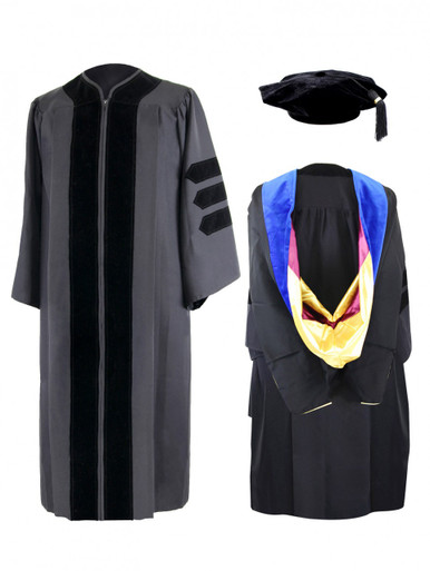 DOCTOR Executive™ Gown, Tam with Stubby™ Tassel & Hood - Willsie ...