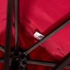 Patio Garden 8.2 x 8.2 FT Square Offset Patio Umbrella with Crank (Burgundy)