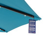 Solar Powered 32 LED Lighted Outdoor Patio Umbrella with Crank and Tilt, 9 Feet (Blue)