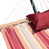 LazyDaze Hammocks Quilted Fabric Double Size Spreader Bar Heavy Duty Stylish Hammock Swing with Pillow for Two Person, Cherry