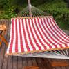 LazyDaze Hammocks Double Size Pillow Top Hammock Spreader Bar Heavy Duty (Sienna)