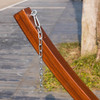 LazyDaze Hammocks 14 Foot Russian Pine Hardwood Arc Frame Hammock Stand with Hooks and Chains
