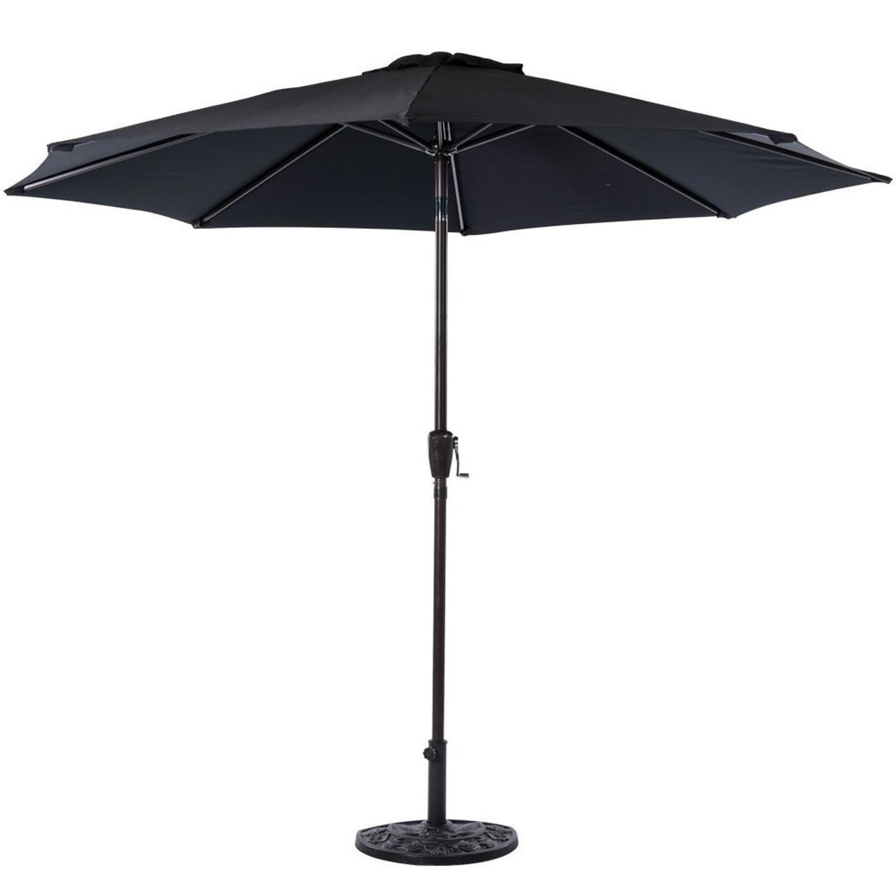 Feet Outdoor Aluminum Patio Umbrella Black