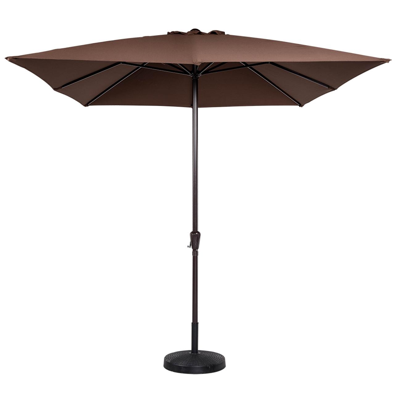8x11 ft rectangular patio garden outdoor umbrella with crank 220g polyester coffee - Rectangular Patio Umbrella