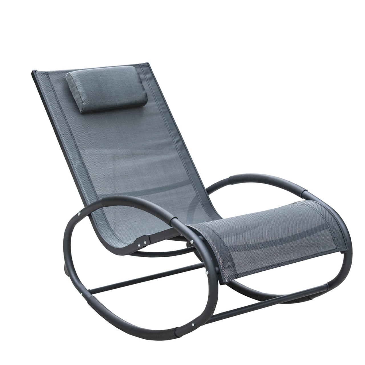 Patio gravity chair - Patio Aluminum Zero Gravity Chair Orbital Rocking Lounge Chair With Pillow Capacity 250 Pounds