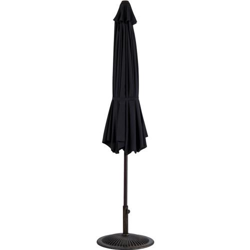 Great 10 Feet Outdoor Aluminum Patio Umbrella(Black)