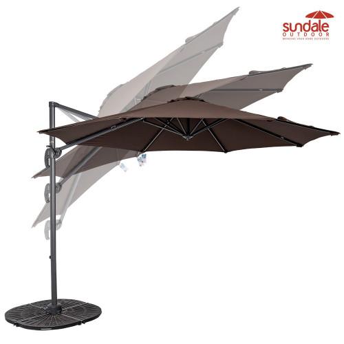10ft Hanging Roma Offset Umbrella(Coffee)