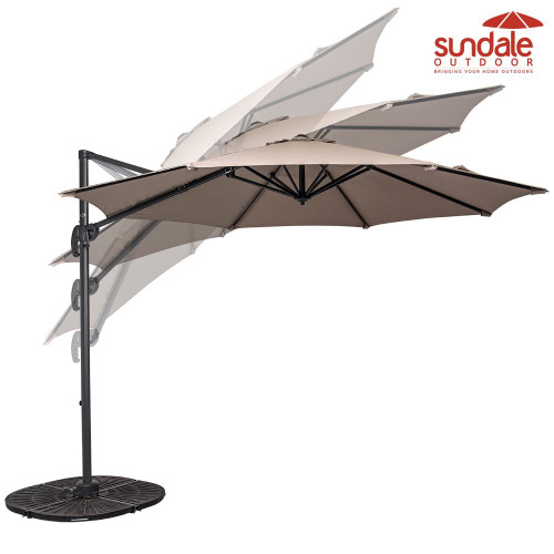 10ft Hanging Roma Offset Umbrella(Taupe)