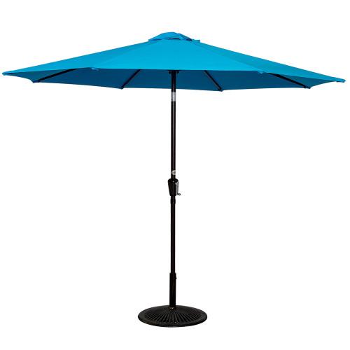 9 Feet Aluminum Patio Umbrella(Lake Blue)
