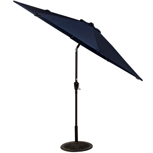 9 Feet Aluminum Patio Umbrella(Navy Blue)