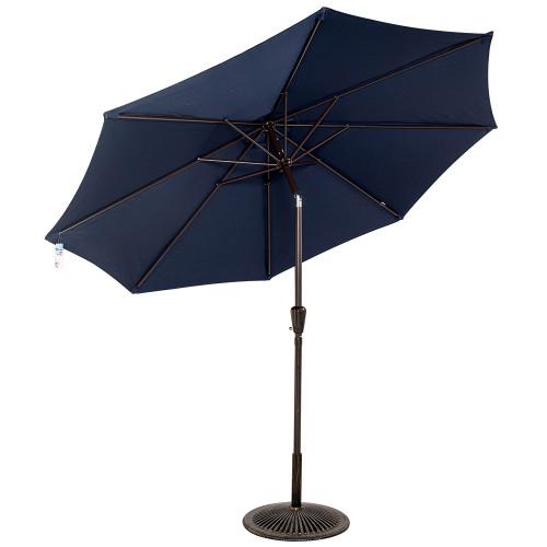 9 Feet Aluminum Patio Umbrella(Navy Blue)