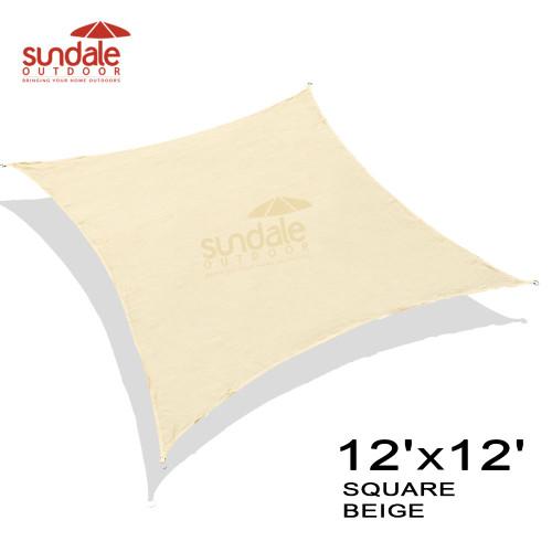 12'x12' Square Sun Shade Sai(Beige)