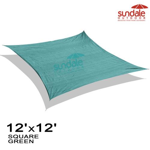12'x12' Square Sun Shade Sail(Green)