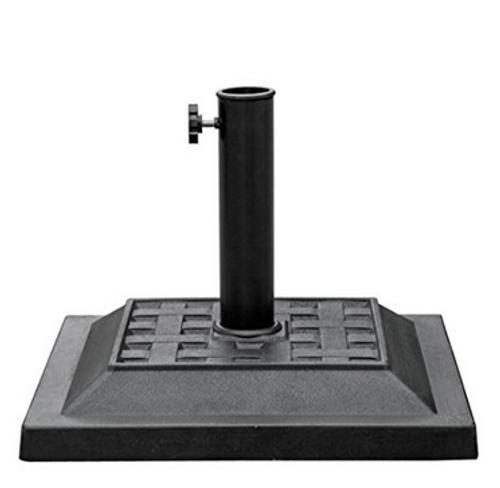 Universal Square Cast Stone Patio Umbrella Base Metal Heavy Duty Stand