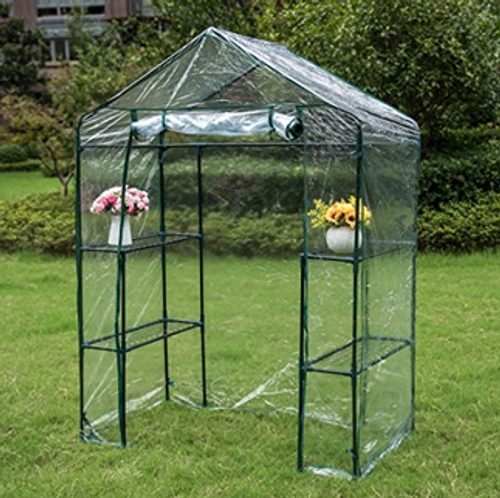 """6 Tier Steeple Greenhouse with PVC Cover, Hot Green House, 56.5""""(L) x 29""""(W) x 75.5""""(H)"""