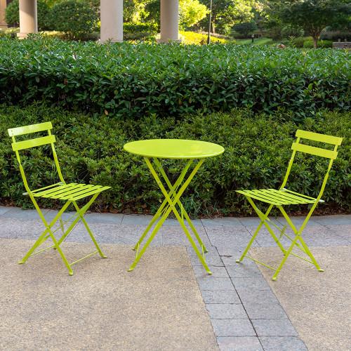 3Pcs Outdoor Bistro Set (Apple Green)