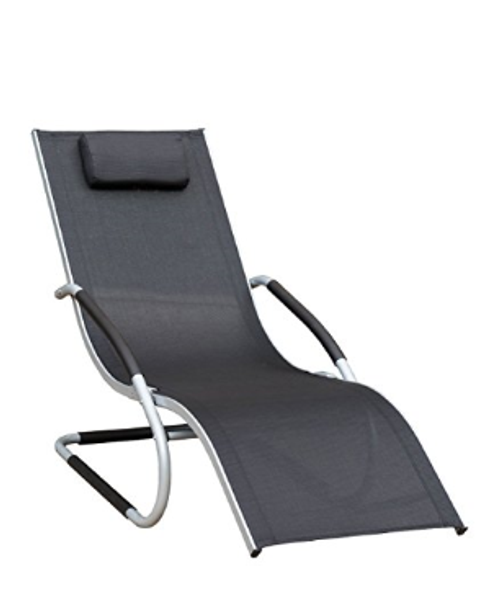 Deluxe Aluminum Patio Garden Beach Yard Pool Chaise Lounge Chair Recliner,Capacity 250 Pounds