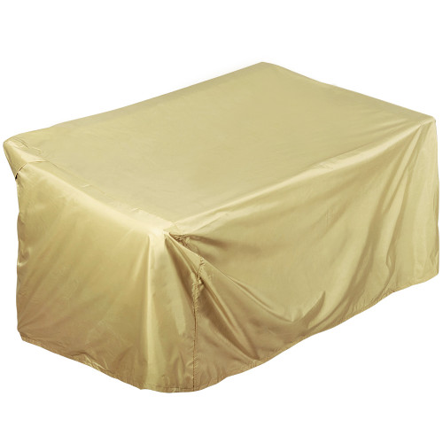 Patio Heavy Duty Patio Lounge Chair Loveseat Sofa Cover, fit up to 55L x 33W x 20/28H inches, Beige
