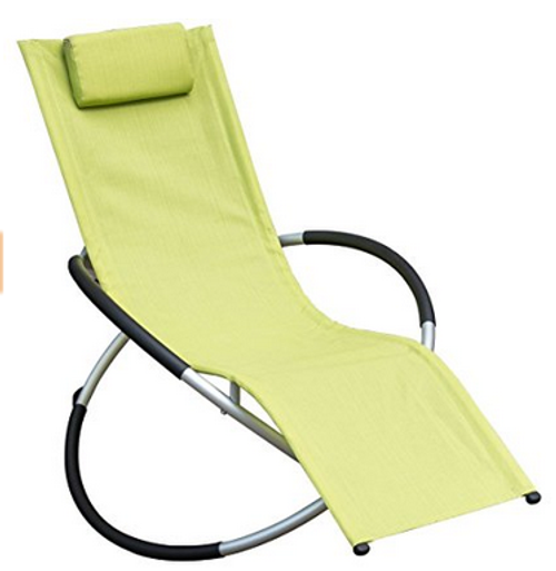 orbital zero gravity folding rocking patio lounge chair with 250 poundsgreen - Zero Gravity Lounge Chair