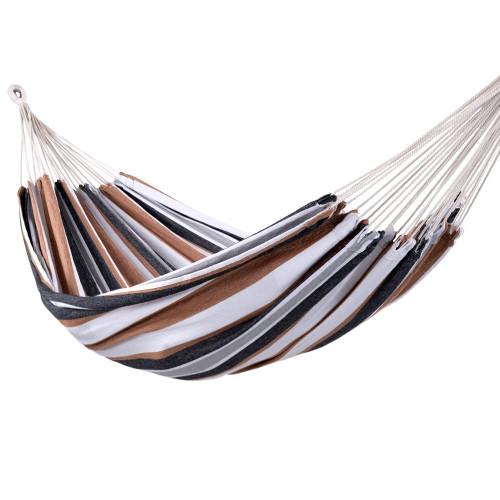 Portable Double Size Canvas Hammock with Carry Bag, 450 Pounds Capacity (Desert Stripe)