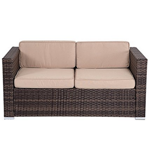 Garden Furniture Sofa Sets piece wicker garden patio furniture sofa set