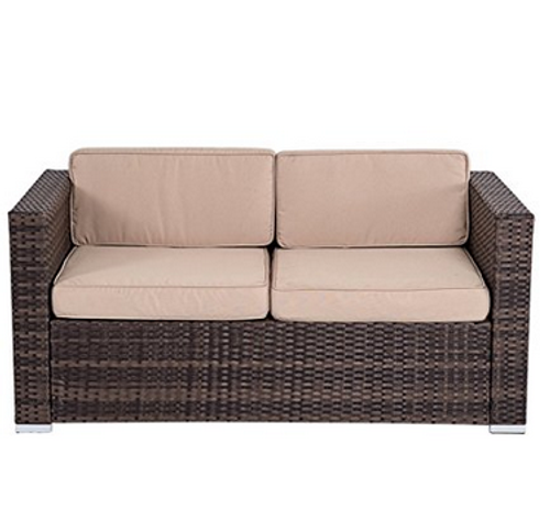 4 piece wicker garden patio furniture sofa set