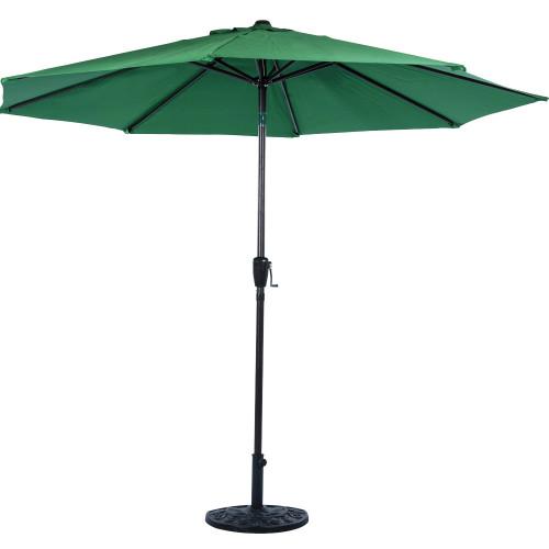 9 Feet Outdoor Aluminum Patio Umbrella With Auto Tilt And Crank, 8 Alu. Ribs