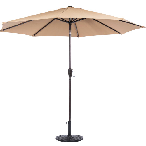 Sundale PU005 9-Feet Aluminum Patio Umbrella, Tan