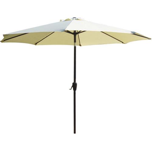 9-Feet PU005 Aluminum Patio Umbrella with Auto Tilt and Crank, Light Yellow