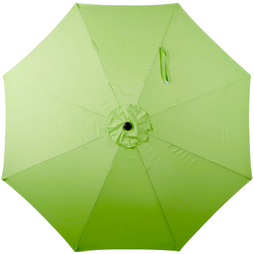 9 Feet Outdoor Aluminum Patio Umbrella With Auto Tilt And Crank(Lime Green)