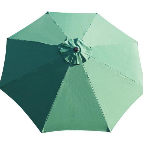 9 Feet Patio Umbrella Replacement Cover For 8 Ribs Yard Garden Polyester  (Dark Green)