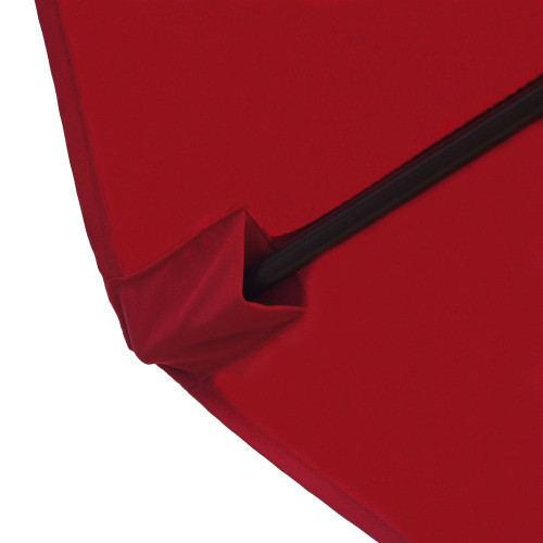 9 Feet Patio Umbrella Replacement Cover For 8 Ribs Yard Garden Polyester  (Red)