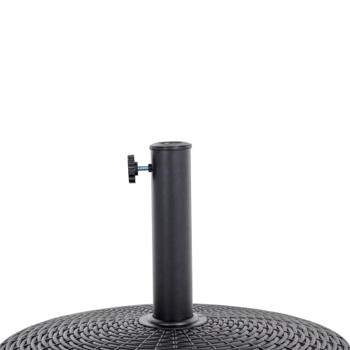 bliss wicker resin black patio umbrella base metal heavy duty stand
