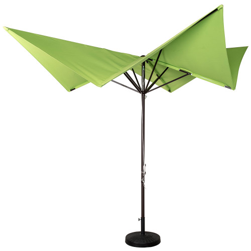 Patio Garden 8.5x8.5 Ft Outdoor Butterfly Market Umbrella With Hand Push,  220g
