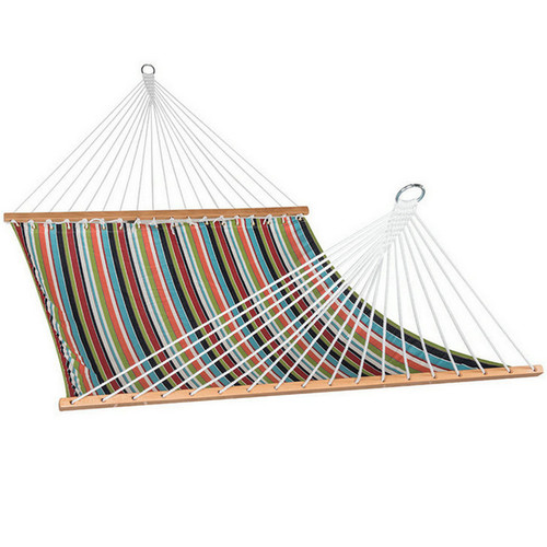 All weather Sunbrella Hammocks with spread bar for two person 450 Lbs capacity, Carousel Condetti