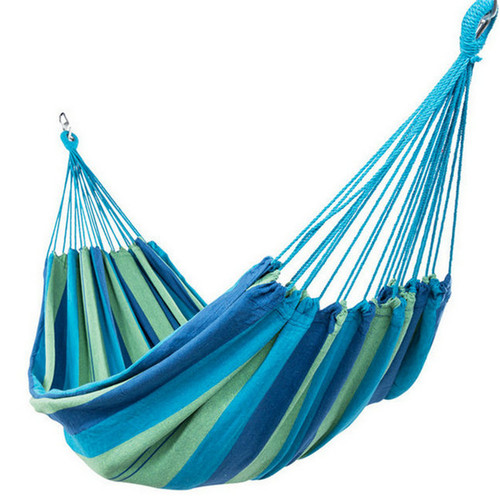 Portable Double Size Cotton Hammock with Carry Bag,450 Pounds Capacity (Beach Osis)