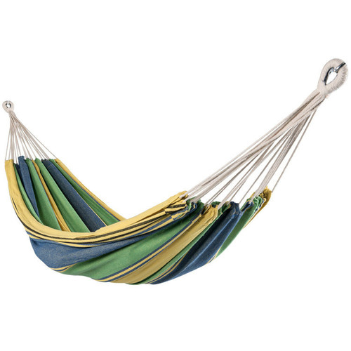 Portable Double Size Canvas Hammock with Carry Bag,450 Pounds Capacity (Green)