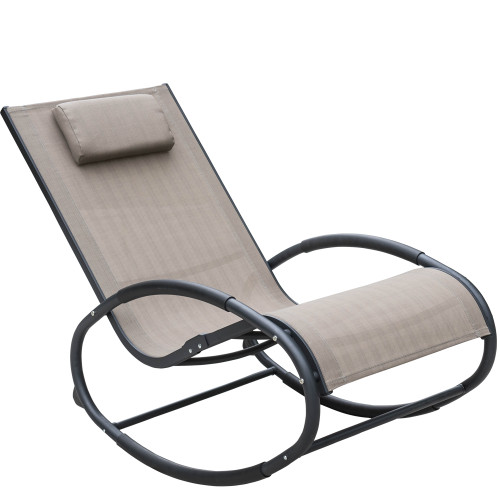 patio aluminum zero gravity chair orbital rocking lounge chair with 250 pounds