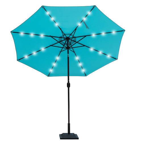 Sundale Outdoor Solar Powered 24 LED Lighted Outdoor Patio Umbrella With  Crank And Tilt, 10
