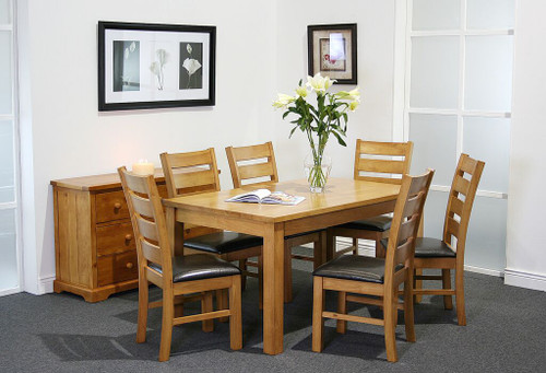 Captivating Columbia 6ft Dining Set With 6 Columbia Dining Chair Solid Wood Dining  Table And Chairs