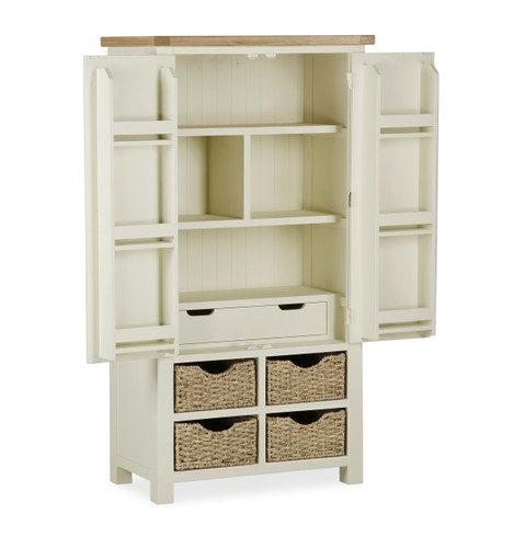 Suffolk oak larder unit ideal furniture for Oak kitchen larder units