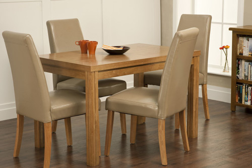 Kingston Small Dining Table With 4 Hanbury Chairs Image 1