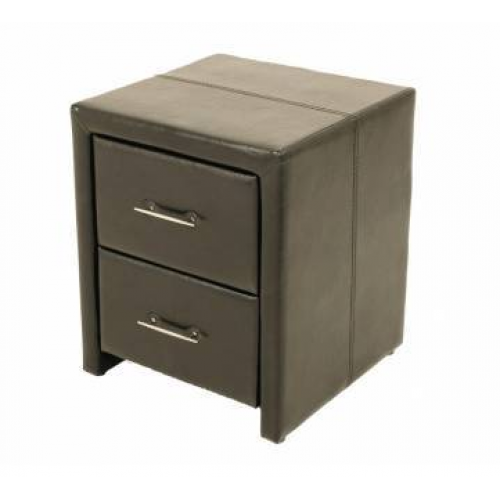 Vancouver Black Night Stand Ideal Furniture