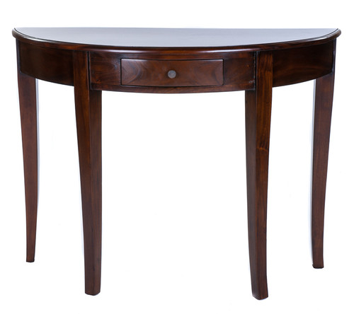 ELSA MAHOGANY 1 DRAWER CURVED CONSOLE TABLE This Elegant Collection Of  Solid Mahogany Furniture Exudes Charm