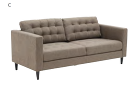 London 3 Seater-Natural